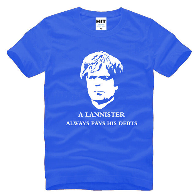A Lannister Always Pays His Debts Printed Men's T-Shirt T Shirt For Men