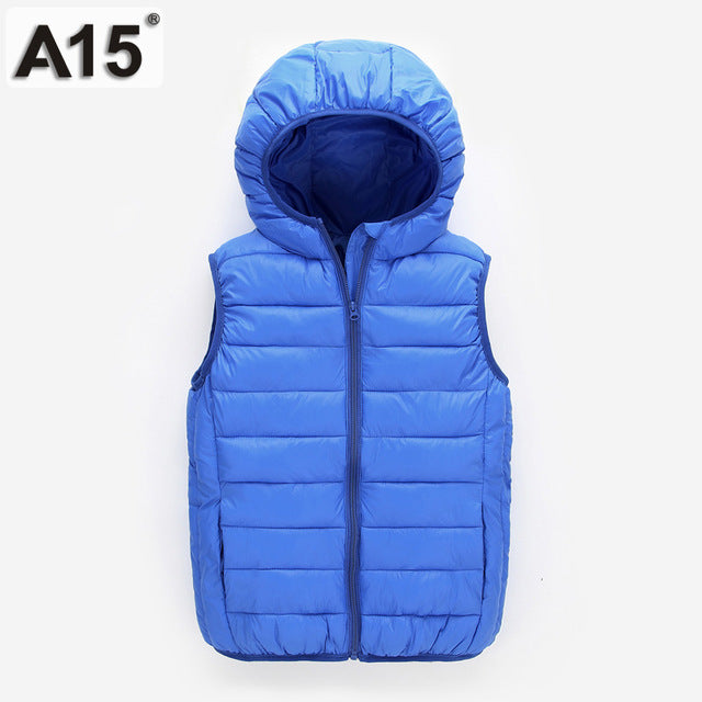 Hooded Jacket Winter Spring Waistcoats for Boy Baby Outerwear Coats Big Teens 4 5 8 10 12 Year - KiddyLanes