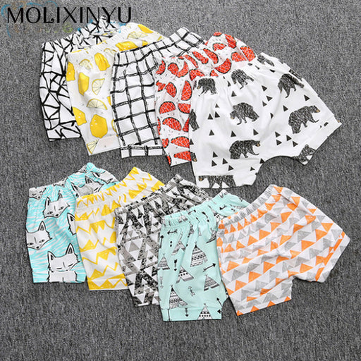 MOLIXINYU 2017 Shorts Cotton Printed Baby Pants Trousers Summer Shorts For Boys Casual Kids Beach Shorts Fashion Baby Clothes - KiddyLanes