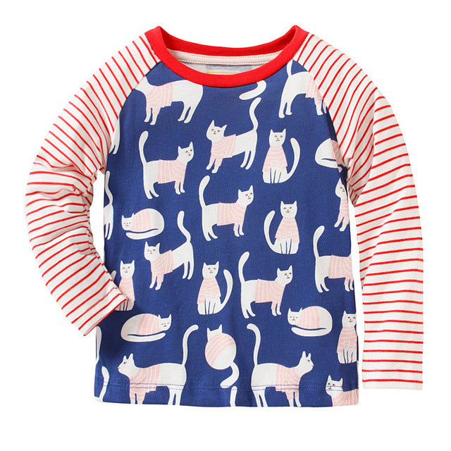 Baby Girls Tops Children T shirts Long Sleeve 2017 Brand Autumn Kids Tee shirt Fille 100% Cotton Sweatshirts for Girls Clothes - KiddyLanes