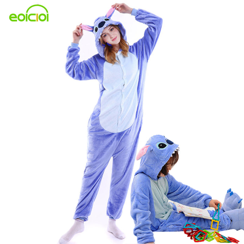Amily christmas pajamas stitch pajamas onesie kids animal onesies for adults pajamas for women winter family matching outfits - KiddyLanes