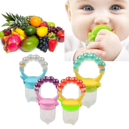 1 Pcs Fresh Food Nibbler Baby Pacifiers Feeder Kids Fruit Feeder Nipples Feeding Safe Baby Supplies Nipple Teat Pacifier Bottles - KiddyLanes