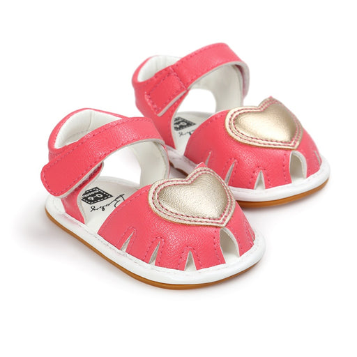 Cute Lovely Baby Sandals Baby Clogs Cute Soft Bottom Non-slip Baby Princess Shoes Baby Girls Love Kids Shoes - KiddyLanes