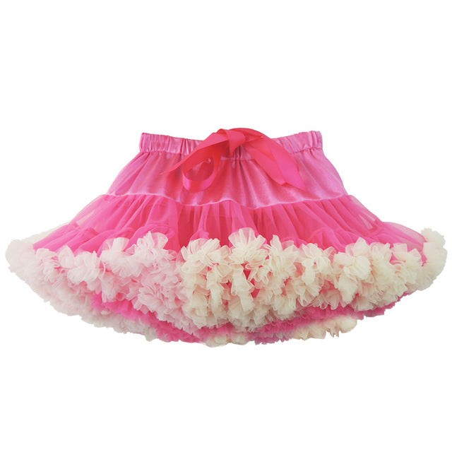 Baby Girls Tutu Skirt with Lace Infant Princess Dance Party Soft Tulle Fluffy Chiffon - KiddyLanes