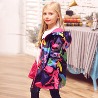 Funky Outerwear Teenager Hooded Thin Windbreaker Waterproof Jacket