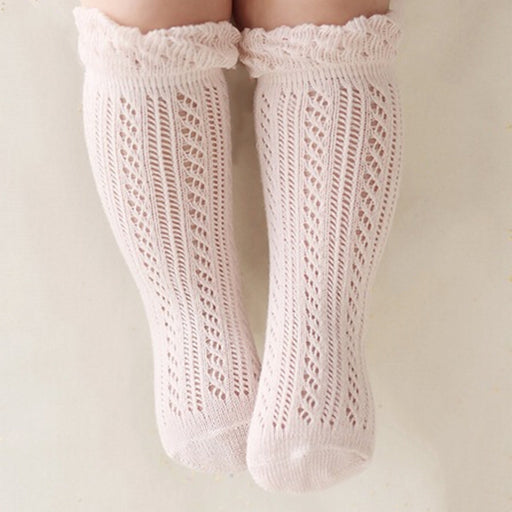 Newborns Baby Girls Boys knee high Socks leg warmers solid cotton sock for Toddler infantile 0-2years - KiddyLanes