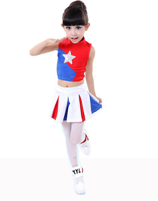 Girl Children Academic Dress Primary School Uniforms Set Kid Girls Student Costumes Boy Competition Suit Girl Cheerleader Suits - KiddyLanes