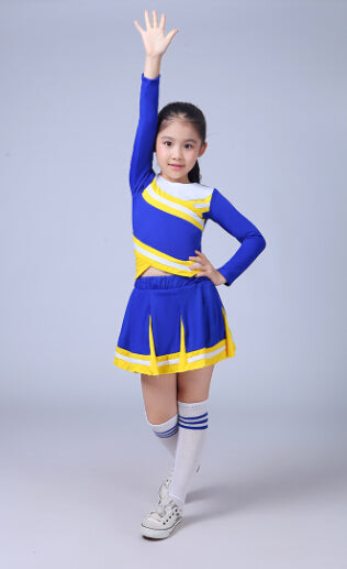 Children Academic Dress Primary School Uniforms Set Girl Cheerleader Cheer Leaders Costume Boy Aerobics Clothing Girls Uniforms - KiddyLanes