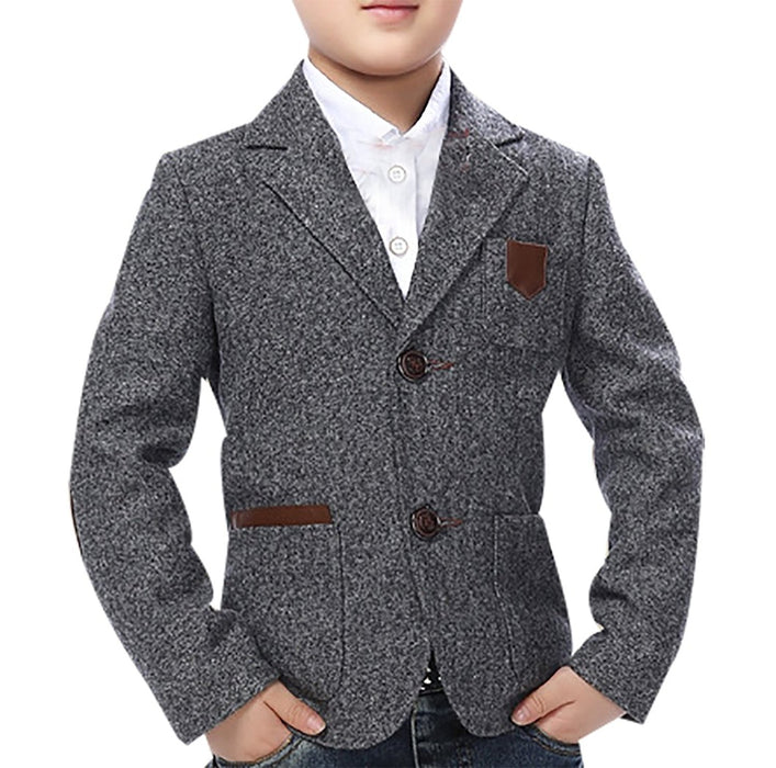 High Quality Boy Kid Classic Buttoned Casual Cotton Blend Slim Fit Blazer