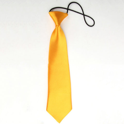 New Arrival Neck Tie Fashion Boy Children Baby Wedding Solid Colour Elastic Tie Necktie Kids Clothing Accessories - KiddyLanes