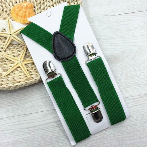 1 Piece Hot High Elastic Solid Color Kid Suspenders Baby Boy Girl Children Clothing Accessories Suspenders - KiddyLanes