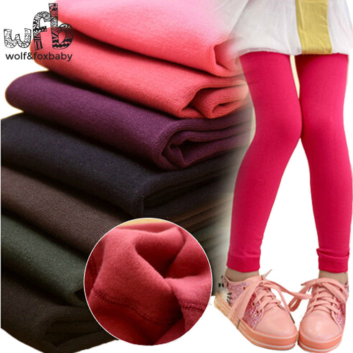Retail 3-11years leggings candy thickened velvet children Kids infant Baby Combed Cotton spring autumn fall winter - KiddyLanes