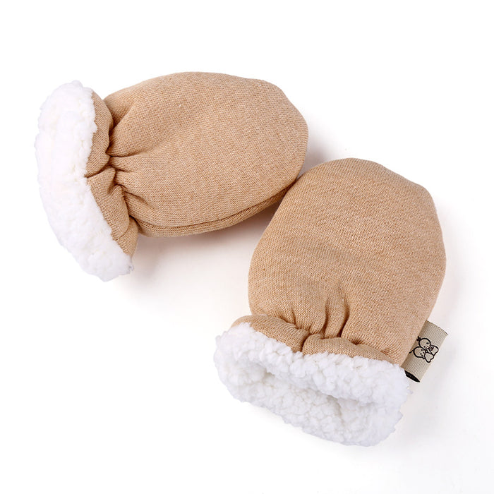 Amazing Cute Cartoon Thicken Warm Fleece Infant Baby Boys Girls Winter Warm Gloves Newborn Mittens for 0-12 Month - KiddyLanes