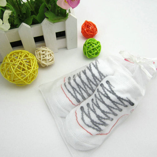 Cute Infant Baby Boys Girls Clothing  Toddler Anti-slip Soft Sole Socks Newborn Warm shoelace pattern  Kid Toddler Ankle Socks - KiddyLanes