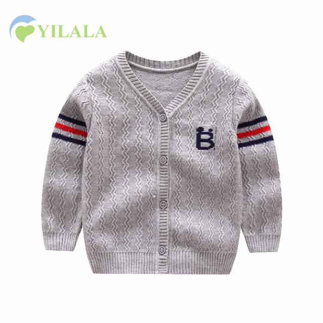 Unisex New Cotton Baby Sweater Long Sleeve Button Cartoon Sweaters Single Row Button Cardigan Crochet Baby Boy Sweaters Autumn Winter - KiddyLanes
