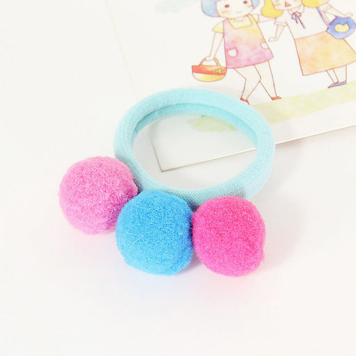 New Arrival 1PC Women Girls Children Lovely Ball Delicate Colorful Elastic Hair Band Hair Rope Hair Accessories - KiddyLanes