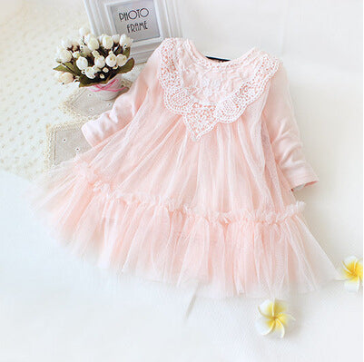 Retail! New brand newborn baby girls dress full of lace baby party dress infant babywear kids children baby clothing - KiddyLanes