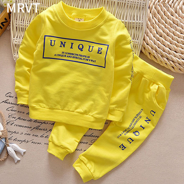 1-6Y new arrival Boy clothing set kids sports suit children tracksuit girls Tshirt pant baby sweatshirt character casual clothes - KiddyLanes