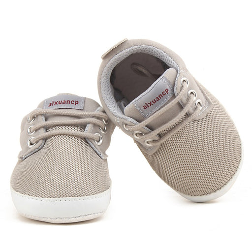 Newborn Baby Boy Shoes First Walkers Spring Autumn Baby Boy Soft Sole Shoes Infant Canvas Crib Shoes 0-18 Months - KiddyLanes