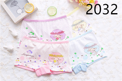 Calcinha Infantil 4pcs Baby Girl Child's For Underpants Shorts Nurseries Children's Boxer Underwear Kids Panties - KiddyLanes