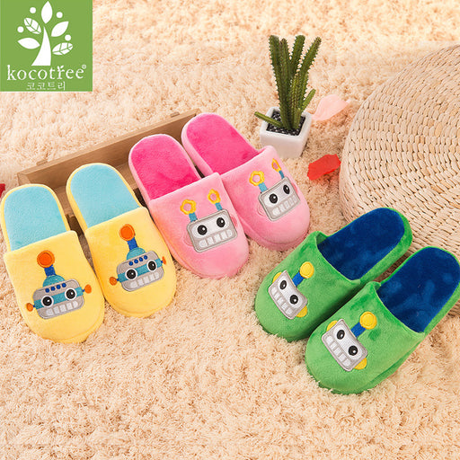 Winter kids slippers boys girls slippers children warm soft sole boys girls shoes kid cute cotton slippers high quality - KiddyLanes