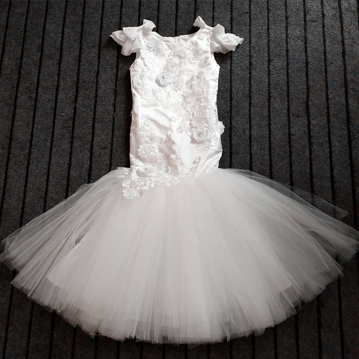 Girls Party Wedding Pageant Ball Gown Girls Mermaid Dress