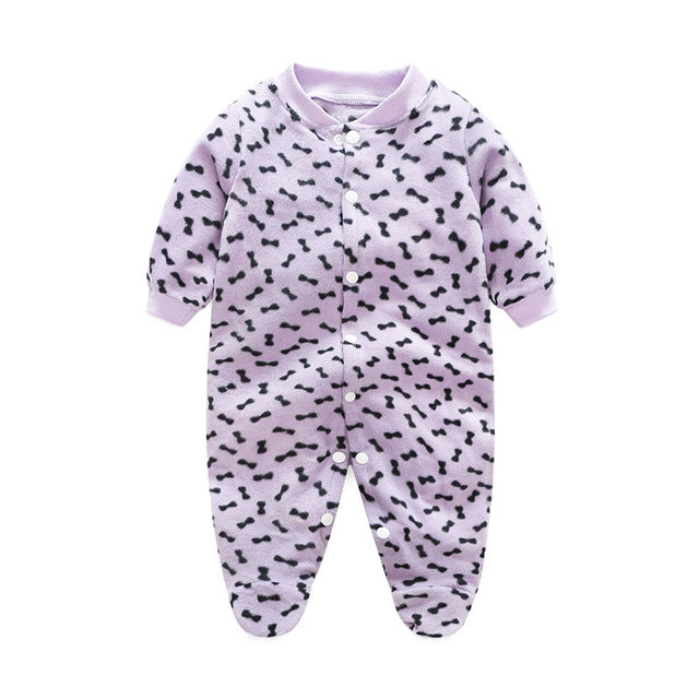 Newborn Baby Boy or Girl Rompers | Baby Overalls Jumpsuits Polar Fleece - KiddyLanes