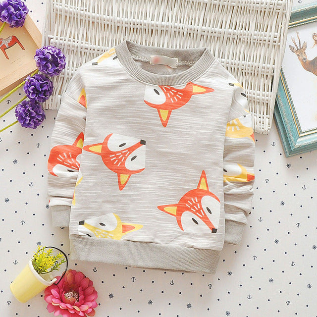 Babyinstar Boys Girls Hoodies & Sweatshirt Autumn Girl Coat Cartoon Fox Outwear Baby Children Clothing kids jacket - KiddyLanes