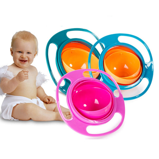 Mambobaby Baby Feeding Learning Dishes Bowl High Quality Assist Toddler Baby Food Dinnerware For Kids Eating Training Gyro Bowl - KiddyLanes