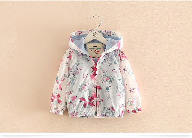 New Cotton Baby Girls Coat Spend Three Flowers Lollipops Dot Jacket Cardigan Kids Children Clothing Autumn - KiddyLanes