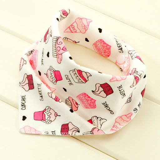 Baby bibs waterproof triangle Cotton Cartoon Child Baberos Bandana bibs babador dribble bibs Newborn slabber Absorbent cloth - KiddyLanes