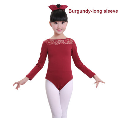 38511de87 New Lace Black Sleeveless  Long Sleeve Dance Leotard Girls Kids Childr