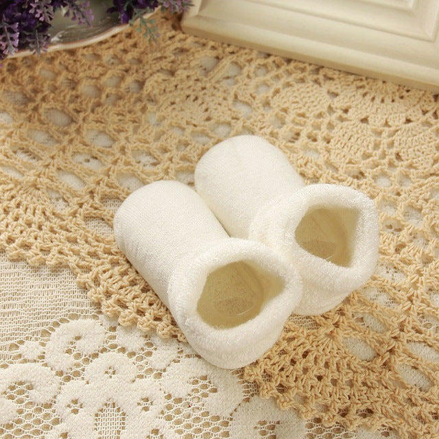 DreamShining Cotton Baby Socks Autumn And Winter Thicken Warm Newborn Boy Girl Socks Floor Wear Antiskid Sock For Kids 0-3 Year - KiddyLanes