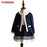 VIMIKID Autumn kids Clothes Girls Clothing Set Navy Blue Short Jacket and Skirts Suits Children Formal School Uniform - KiddyLanes