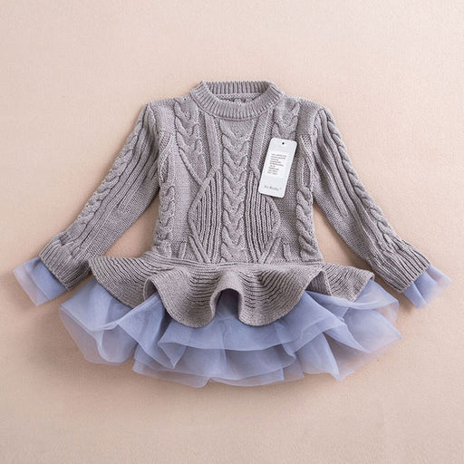 Thick Warm Party Dress for Girls - KiddyLanes