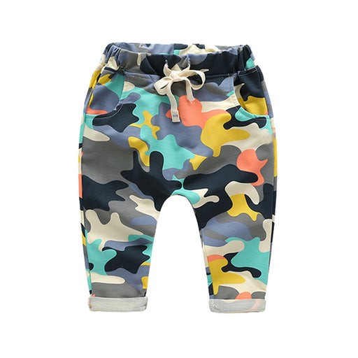 New Toddlers Baby Boy Pants Kids Harem Pants Camouflage Children Pants Kids Cotton Warm Boys & Girls Trousers for 2-7 Yr - KiddyLanes