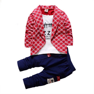 VIMIKID Spring Autumn Toddler Baby Boy Formal Clothing Fashion Sets Newest Boys Clothes Suit 2PCS Children's Infant Clothes - KiddyLanes