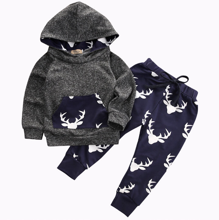Kids Tops Hoodie Top Pant Leggings 2 Pcs Cute Animals Unisex dress - KiddyLanes