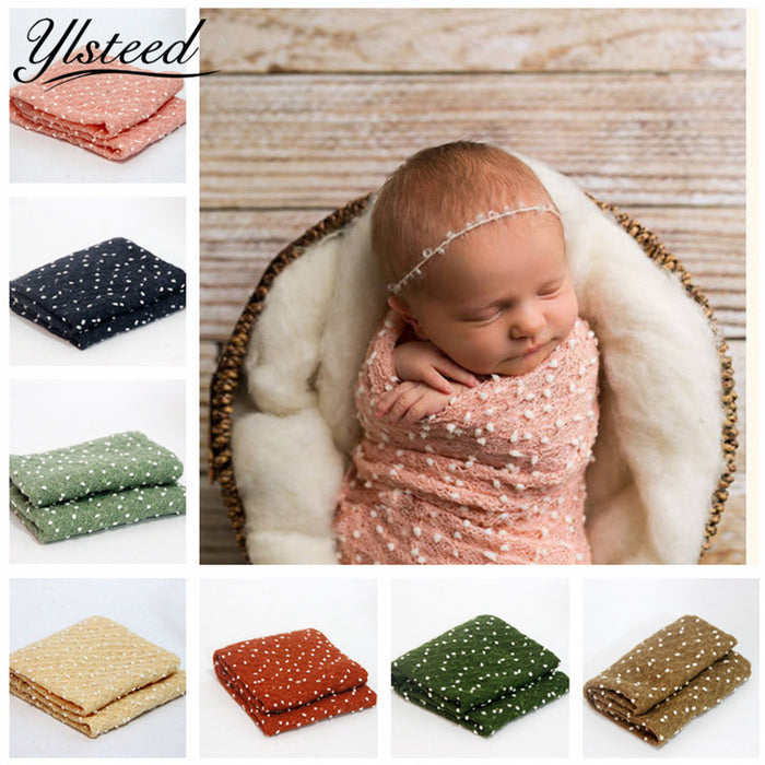 50X150CM Newborn Photography Wrap Props Baby Headband Newborn Photo Background Newborn Prop Backdrop Swaddleme Baby Foto Blanket - KiddyLanes