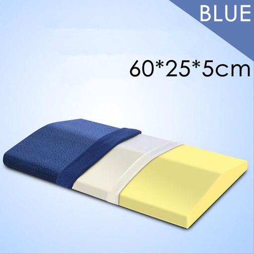 PurenLatex 60*28*5 Memory Foam Bed Triangle Pillow Waist Back Support Cushion Pad Slow Rebound Pregnancy Pillow Women Cervical Protect