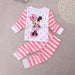 Baby Girl  Clothes Set 2016 Baby Kids Pajamas Set Sleepwear Tops+Pants Size 2T-6T - KiddyLanes
