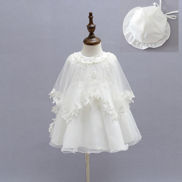 Newborn Baby Christening Gown Infant Girl\'s White Princess Lace ...