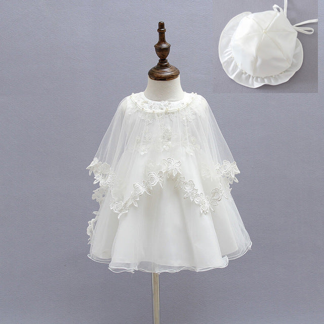 c0479b2c5451 Newborn Baby Christening Gown Infant Girl s White Princess Lace Baptis