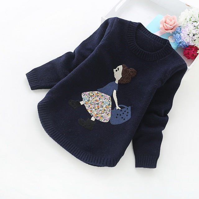 Autumn and winter new girls' sweaters children clothes 4-14 years girls sweater 8001 - KiddyLanes