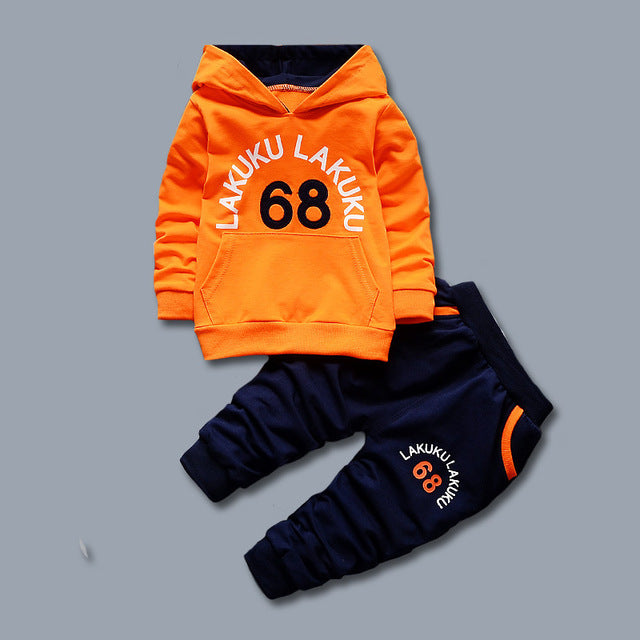 Toddler Tracksuit Autumn Baby Clothing Sets Children Boys Girls Fashion Brand Clothes Kids Hooded T-shirt And Pants 2 Pcs Suits - KiddyLanes