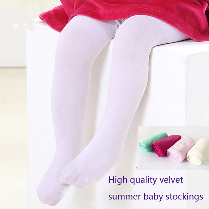 baby Spring/Autumn Tights Cotton Baby Girl Pantyhose Kid Infant Knitted Collant Tights Soft Infant Clothing - KiddyLanes