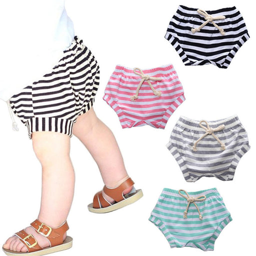 0-3 year old Summer Stripe baby shorts Cotton baby boy and baby girl pants Leisure Tide PP pants - KiddyLanes
