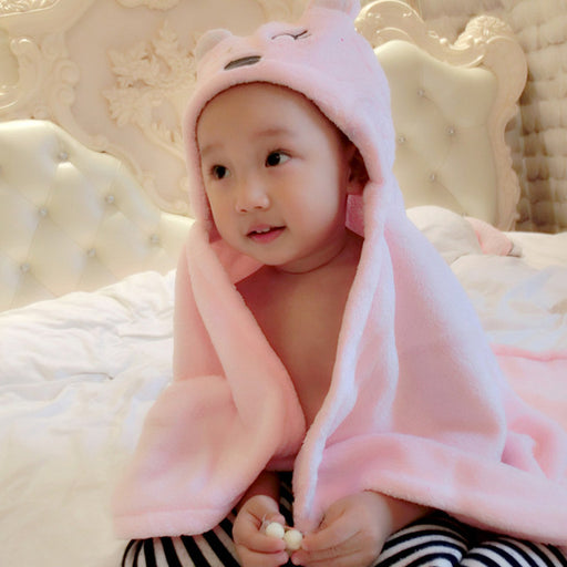 Soft Baby Blankets Baby Kids Bathing Towels Animal Shape Hooded Towel Lovely Baby Bath Towel Baby Swaddle Wrap Hooded Bathrobe - KiddyLanes