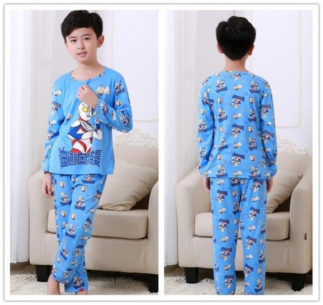 Autumn Winter Children Pajamas Long Sleeve Cartoon Kids Catamite Girl Clothes Suit Lovely Children's Pyjamas Boy Home Clothes - KiddyLanes