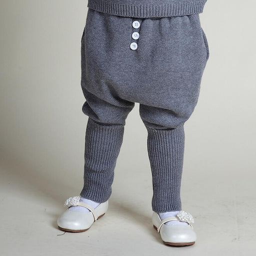 New Bobo Style INS Baby Girls Boys Harem Pants 1-5Yrs Knitted Pants 100% Add Wool Thicken Winter Spring Children Trousers - KiddyLanes